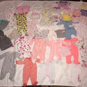 Baby girl newborn clothes lot